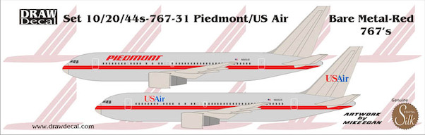 Boeing 767-200 (Piedmont Red Transition)  44-767-31