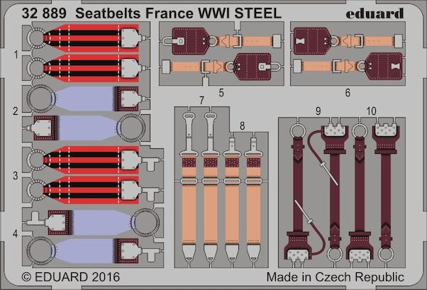 Detailset French WWI Seatbelts (STEEL)  E32-889