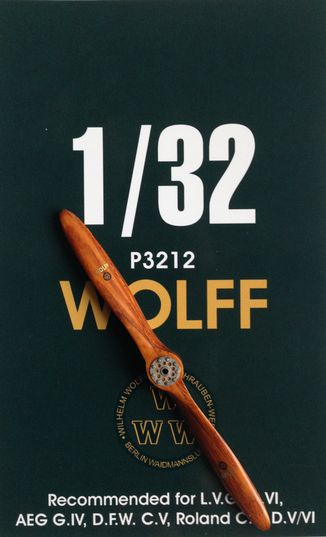 Hand made wooden prop WOLFF  LFP3212