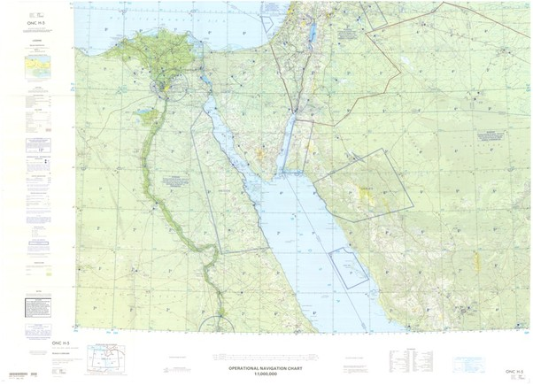 ONC H Available Operational Navigation Chart For Egypt Sinai - Map of egypt israel and saudi arabia