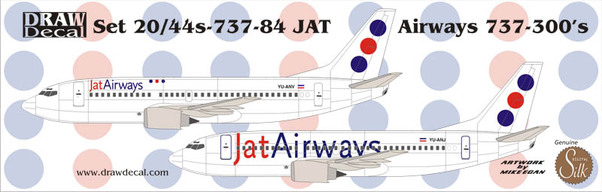 B737-400 (JAT New Colours)  44-737-84
