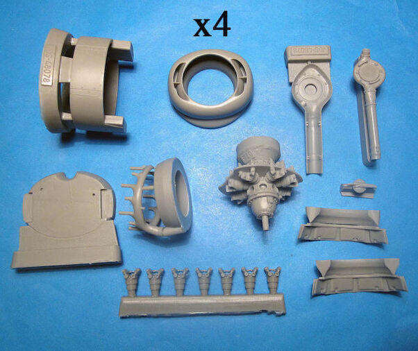 B24 Liberator Engines, Cowls, exhausts and superchargers (Monogram/Revell)  VDS48078