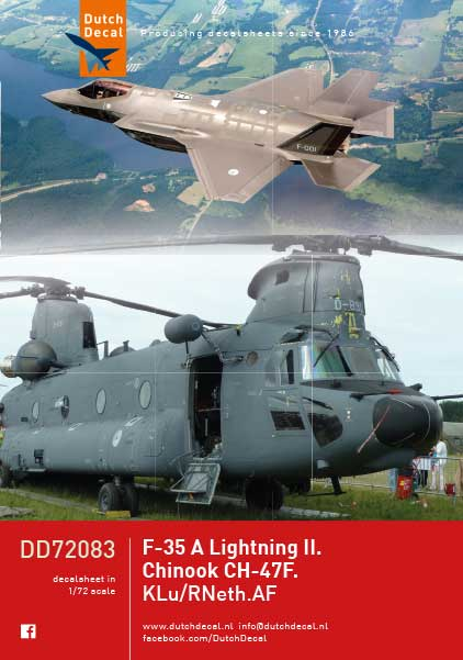F35A Lightning II, CH47F Chinook Grey Scheme (KLU, Royal Netherlands Air Force) (REISSUE)  DD72083