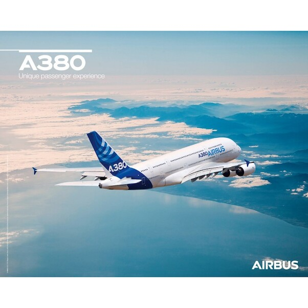 Airbus A380 poster flight view  A380 FLIGHT