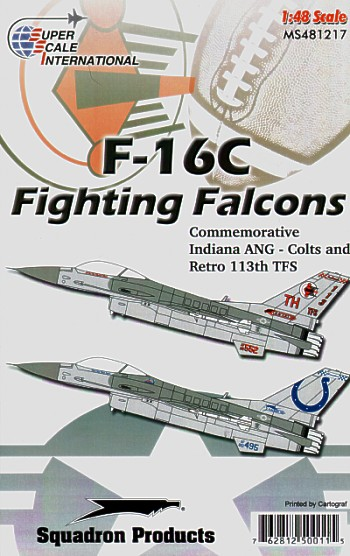 48-1217 F16C Fighting Falcons (Commemorative Indiana ANG - Colts and retro 113TFS)  48-1217
