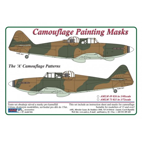 Camouflage Painting masks Boulton Paul Defiant (A Pattern) (AML Models  AMLM49026)