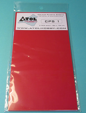 Colour Plastic Sheet 180x100mm Red 1 0mm Thick 2x