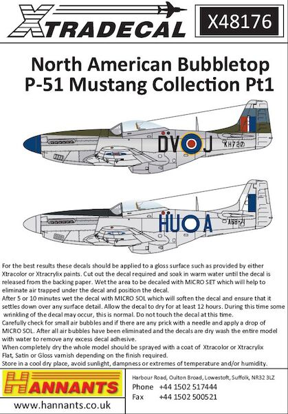 North-American P-51D Mustang Bubbletops Pt 1  X48176