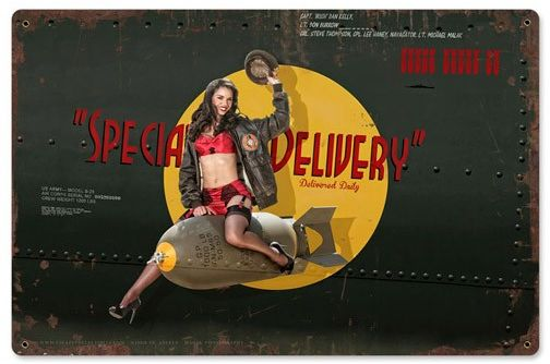 Special Delivery Metal Sign - pin up  PTS-EC006
