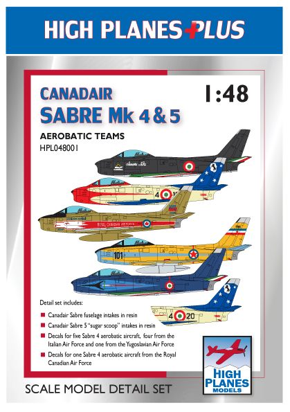 Canadair Sabre F4 & 5 (Aerobatic teams (including resin intake scoops))  HPL048001