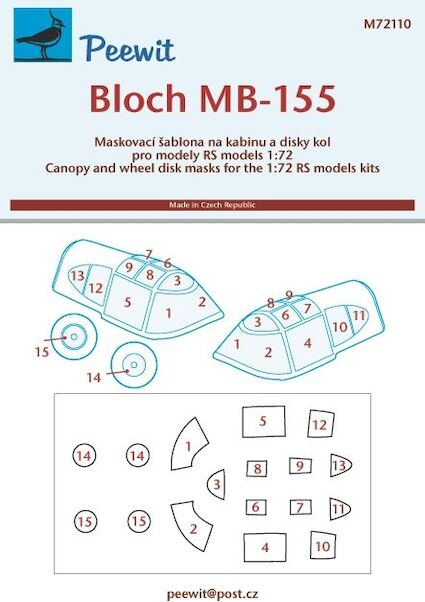 Bloch MB155 canopy masking (RS Models)  M72110