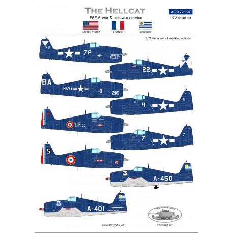 The Hellcat, F6F-5 war and postwar service (US Navy, Aeronavale, Uruguay (LAST STOCKS)  ACD72020