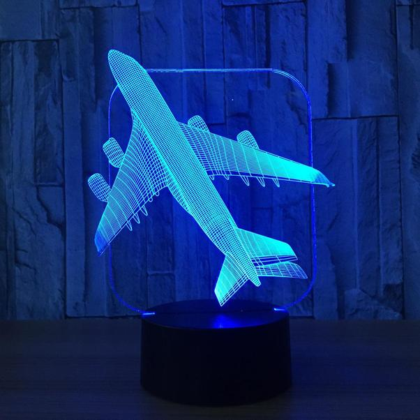 Airplane shape 3d-Led lamp: A380 silhouette  LED-A380