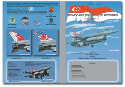 Singapore F16D Fighting Falcons 425FS Black Widows Peace Carvin II-20th Anniversary (Royal Singapore AF)  MV-48004-2