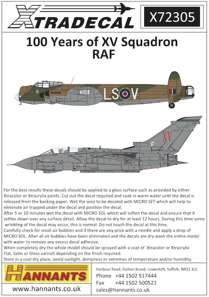 100 years of XV Squadron RAF  X72305