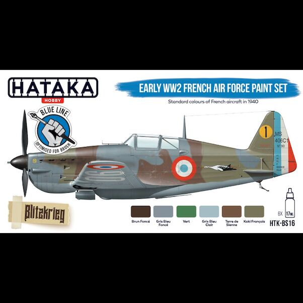 Early WW2 French Air Force Paint set set (6 colours) Optimised for Brushpainting  HTK-BS16