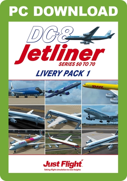 DC-8 Jetliner Series 50 to 70 Livery Pack 1 (download version)  J3F000154-D