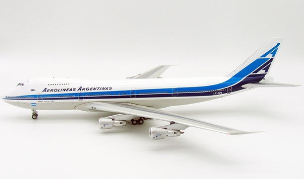 B747-200 (Aerolineas Argentinas) LV-OPA With Stand LIMITED 100 MODELS  IF742AR1217