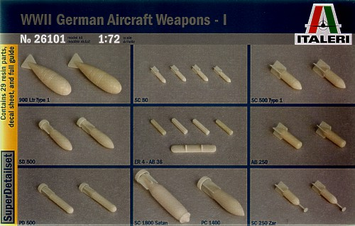 WW2 German aircraft weapons (Ist bombs version)  3426101