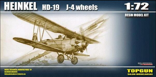 Heinkel HD19  (ASJA J4) on wheels (Swedish AF) (RESTOCK)  K054