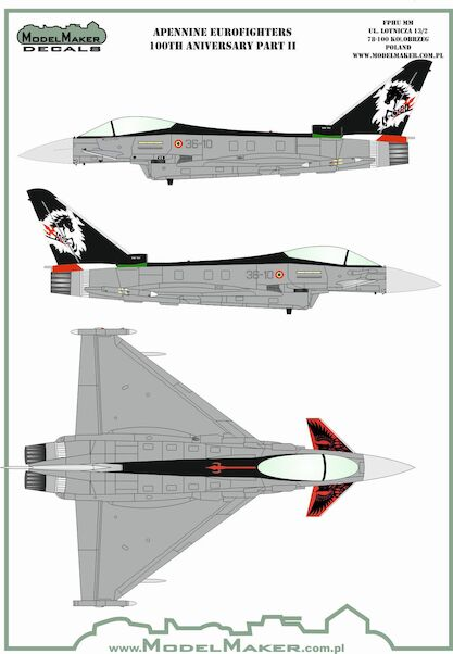 Apenine Eurofighters Italian Air Force  Part 2 100th Anniversary set  MMD-72142