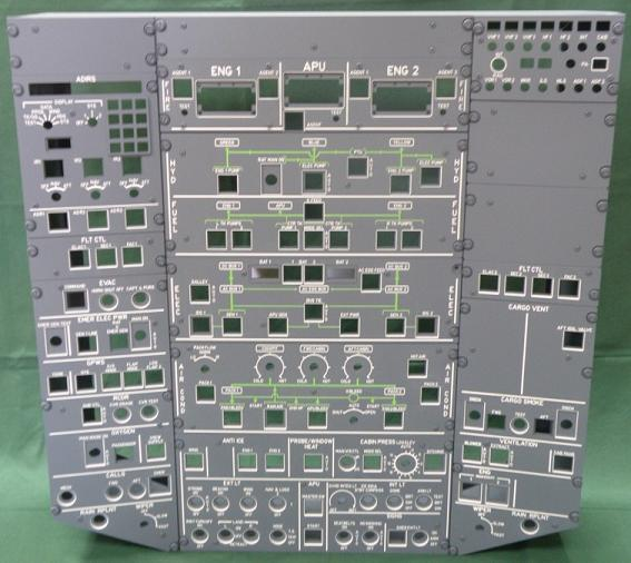A320 Overhead panel kit ( Only the panels) (Opencockpits P320C1)