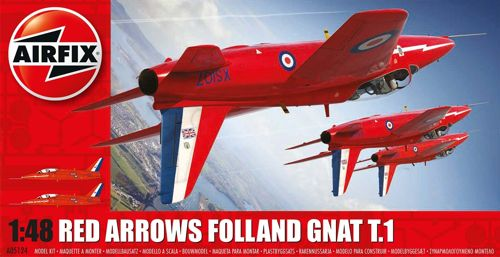 Folland Gnat T1 (Red Arrows) (HAPPY CHRISTMAS OFFER FROM RUDOLPH THE RED NOSE REINDEER!! WAS EURO 19,95)  05124