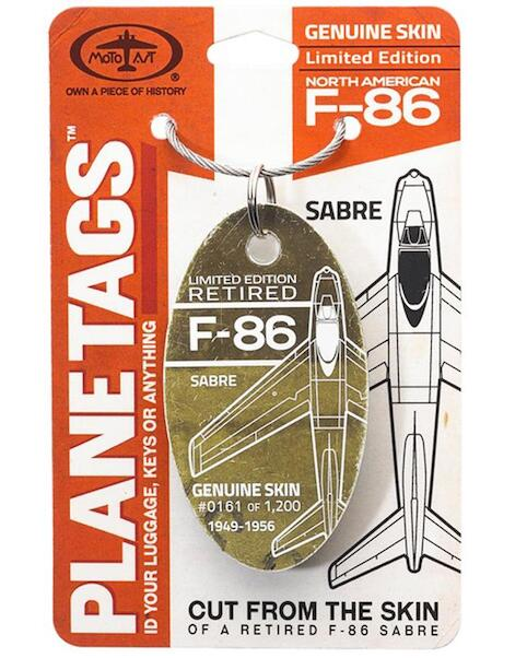 Keychain made of real aircraft skin: F-86 Sabre  F-86 Sabre