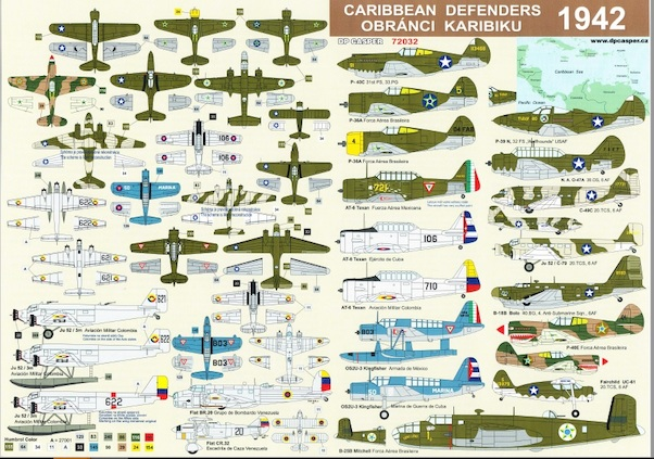 Caribbean Defenders 1942   (Including P39's of 32sq USAAF on Curacao, Dutch  West Indies!)  DPC72032