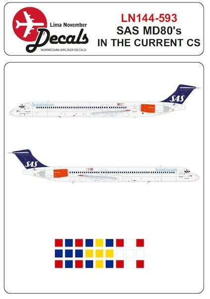 Mc Donnell Douglas MD81/82/83 (SAS in the current scheme)  LN144-593