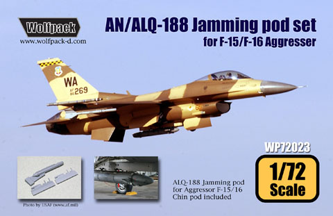 AN/ALQ3188 Jamming Pod with chin pod for F15/F16 Agressor  WP72023