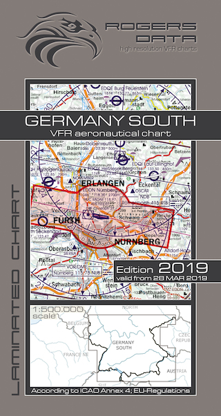 VFR aeronautical chart Germany South 2019  ROGERS-GERM-S