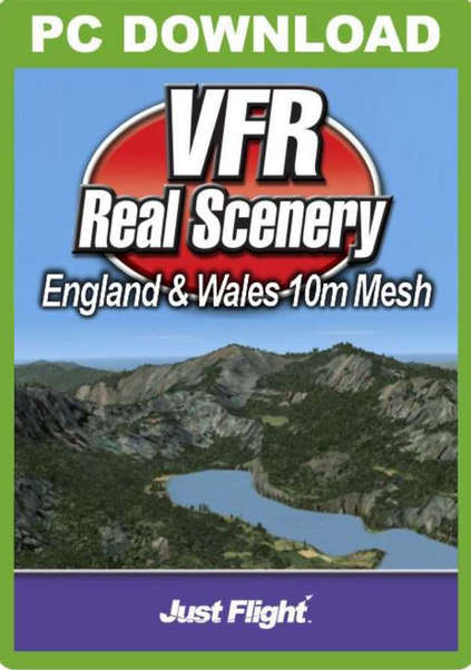 VFR Real Scenery England & Wales 10M Mesh (download version FSX)  J3F000069-D