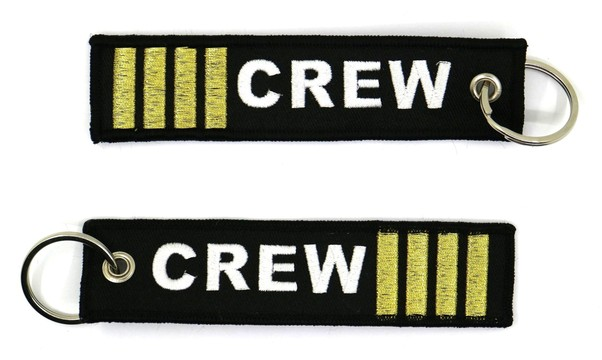 Keyholder with CREW 4-bar (gold)  KEY-4BAR