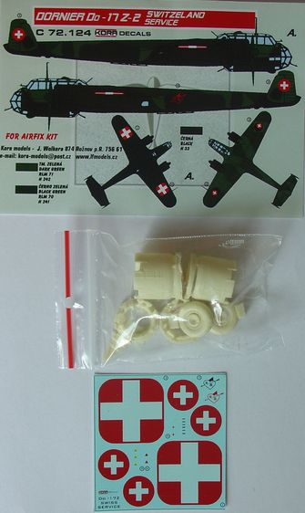 Dornier Do17Z-2/Z-3 in Swiss service (Airfix)  KC72124