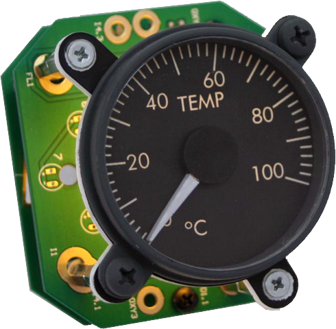 B737 Temperature Gauge with backlight V2  SIS-0533