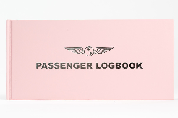 Passenger Flight Log Book - Pink  Passenger Logbook PINK