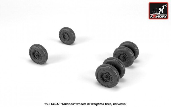 CH47 Chinook Wheel set with weighted tires  AR AW72317