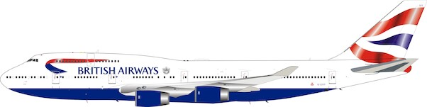 Boeing 747-400 British Airways G-CIVY with stand and collectors coin  ARDBA18