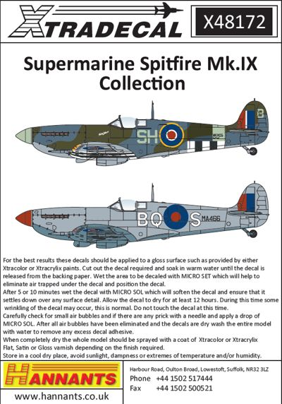 Supermarine Spitifre Mk.IXb/c/e Collection  X48172