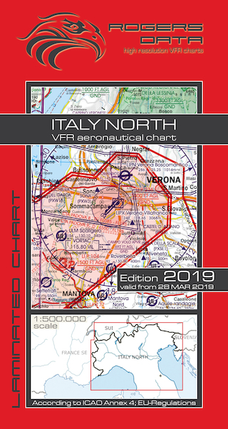 VFR aeronautical chart Italy North 2019  ROGERS-ITALY-N
