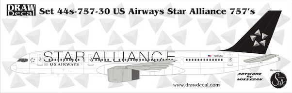 B757-200 (US Airways Star Alliance)  44-757-30