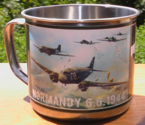 Steel cup with lid D-DAY - C-47 Skytrain  514