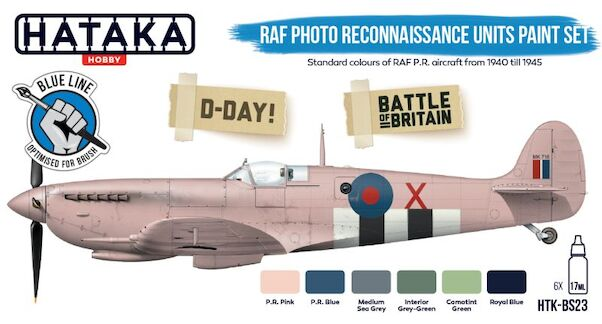 RAF Photo Reconnaissance Units (6 colours)  Optimised for Brushpainting  HTK-BS23