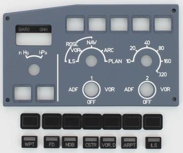 A320 EFIS panel Captain side  (Opencockpits P320B13)