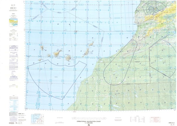 ONC H-1: Available: Operational Navigation Chart for Morocco, Algeria, Spain, Portugal, Islas Canarias (Spain). Available ! additional charts available within five working days. E-mail your requirements.  ONC H-1
