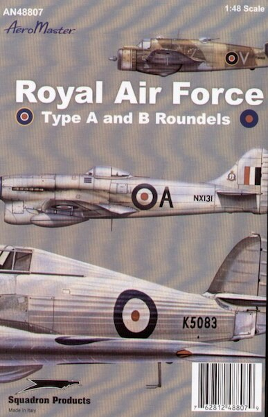 RAF Type A and B Roundels  AMD48-807