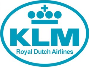 KLM Motif Iron On Applique (badge)  APP020