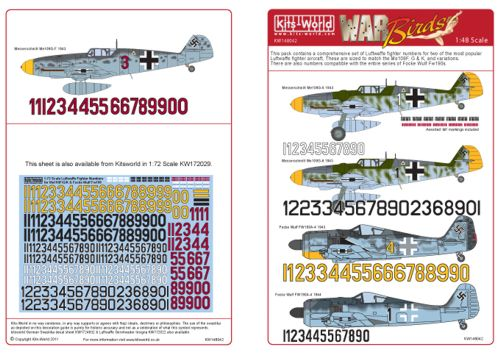 Luftwaffe Fighter Identification Numbers  kw148042