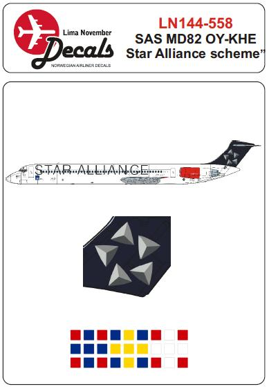 MD82 (SAS OY-KHE in Star Alliance cs) for the Minicraft kit.  LN144-558